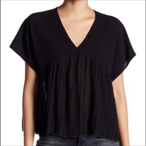 Romeo & Juliet couture pleated black top